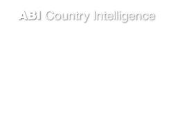 Country Intelligence